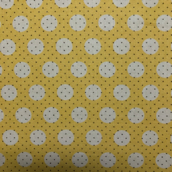 Yellow Polka Dot Fold Over Clutch / Cross Body