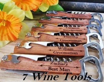 Father-of-the-Bride Gift, Bride's Gift to Dad, Wedding Day Gift, Groomsmen Gifts, Wine Bottle Opener, Custom Father of the Bride Gift Idea