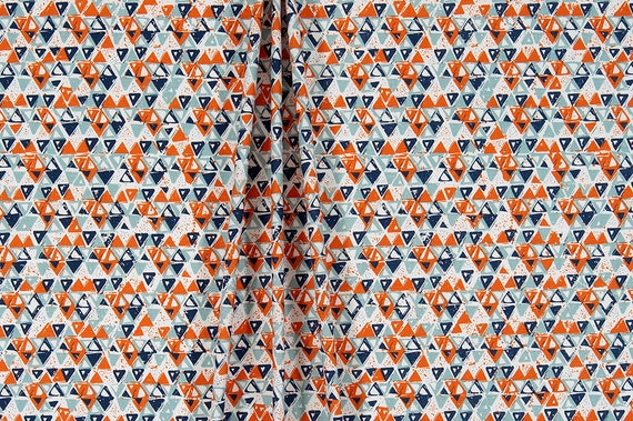 Home Decor Fabrics By The Yard: Southwest Fabric By The Yard Designer Indigo & Orange Home