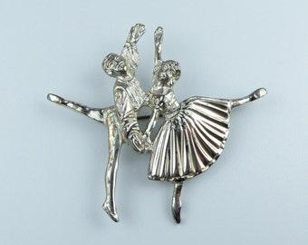 Stunning Silver Ballerina brooch - Frederick Massingham - Fully hallmarked 1947