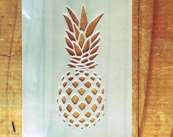 Pineapple STENCIL for home wall interior decor / reusable craft airbrush stencil