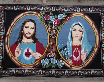 Wall Hanging, Jesus and Mary, Cotton, Turkey, 1980's