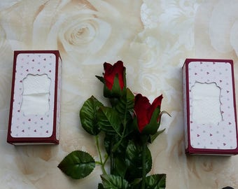 Burgundy wedding tissue favour box, wedding tissue box, wedding gift box, wedding tissue holders, happy tears, tears of joy, guest favours