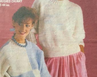 Studkey five in one 1980's ladies jumper knitting pattern