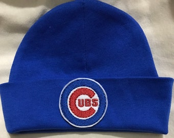 Baby 0-3 Months CHICAGO CUBS Baseball! Boy or Girl! Newborn Beanie Baby Hat! Go Cubs! Great Gift!
