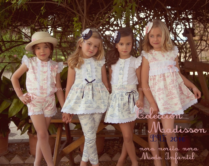 Little girl dress, Printed jumpsuit, Dress with flight, Pant set and blouse, Girly set