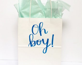 Hand-lettered Gift Bags   Custom Gift Bags   Birthday Gift Bags   Valentines Gift Bag   Baby Shower Gift Bag
