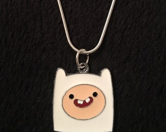 80p UK P&P Adventuretime necklace Adventure time necklace Finn the human necklace charm pendant 18inch silver chain jake the dog *UK Seller*
