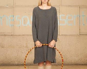 Long Sleeves Dress ,Gray Women Dress, Women Top, Gray Women Sweater, Oversize Dress, Long Sleeves Tunic