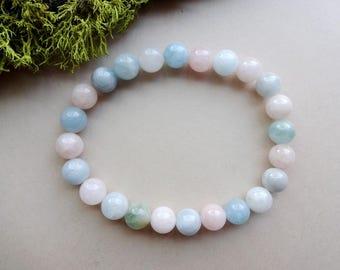 Morganite stretch bracelet Heart Chakra