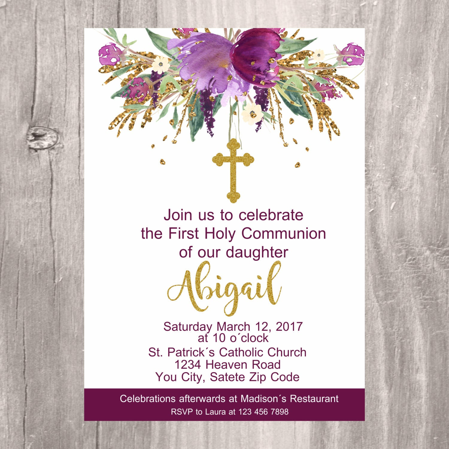 It's just a graphic of Obsessed Printable First Communion Invites