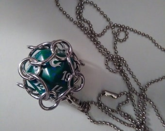 Chain mail spindown MTG life counter interchangeable necklace/keychain