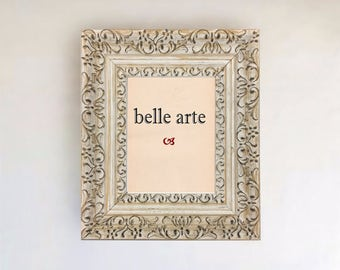 White Vintage French Country Ornate Picture Frame Sizes: 4x6 5x7 8x10 11x14 12x16 16x20 20x24 24x36 + Custom Sizes