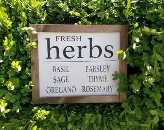 Fresh Herbs Sign