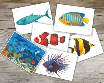 Postcards fish  limited edition