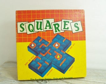Vintage Squares Game By W. H. Schaper MFG. Co., Inc 1950s