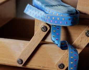 Portuguese Vintage Woven Rayon Ribbon