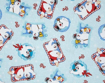Fabric by the 1/4 Yard - Frosty the Snowman Cotton