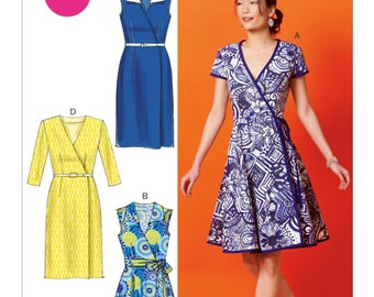 McCall's Sewing Pattern M6959 Misses' Wrap Dresses and Belt