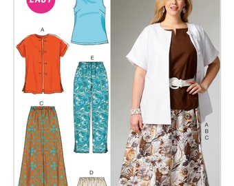 McCall's Sewing Pattern M6970 Women's Side Slit Shirt, Top, Skirt and Pants