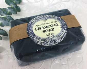 Black Charcoal Soap: For acne-prone and oily skin - absorbent and anti-bacterial - tightens pores and reduces inflammation