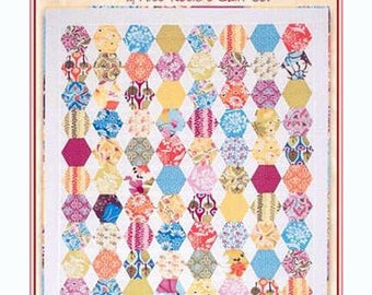 "HONEYCOMB Schnibbles Quilt Pattern by Miss Rosie's Quilt Co Hexagon 36"" x 39"" Wall Table"