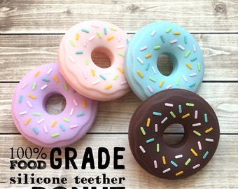 Add on 100% Food Grade Silicone Teether - Donut