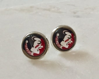 Florida State University Earrings, Seminole Earrings, FSU Earrings, Maroon and Gold, Florida, FSU Jewelry, Game Day Earrings