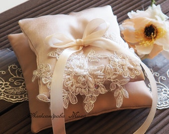 Wedding Ring Pillow, Wedding Pillow, Lace Ring Pillow,  Ring Cushion, Ring Bearer, Ring Bearer Pillow