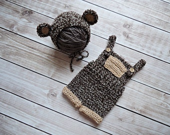 Teddy Bear set, Baby Hat, Crochet Baby Hat, Crochet Beanie Hat with Ears  ,  Teddy Bear Hat ,  MADE TO ORDER
