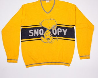 Vintage Snoopy Peanuts 90s V Neck Jumper Sweater
