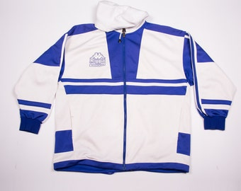 Vintage Kappa 90s Blue and White Zip Up Tracksuit Jacket