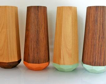 Geometric Wooden Vase
