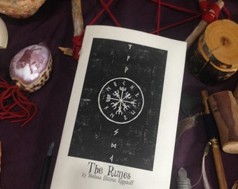 Rune Pamphlet - Hand Made - Parchment Cover