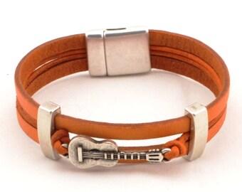 guitar bracelet, music bracelet, music gifts, music jewelry, music teacher gift, guitar teacher, guitar student, guitar lover gift