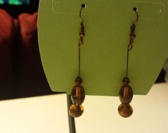 Copper Glass Beaded Earrings