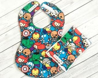 Full Coverage Baby Bib/ Burp Cloth- Avengers-Superheroes