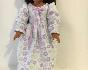 "Snuggly warm flannel nightgown fits 14.5"" doll"