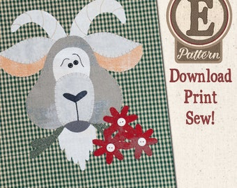 Goat E-patternlet for Tea Towel