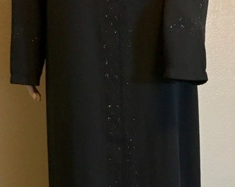 53-Drop Printed Plus Size Abaya