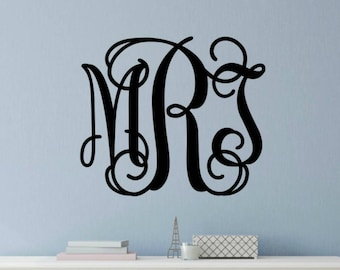 Monogram For Wall Monogram Wall Decal Large Vine Monogram Decal Vinyl Wall  Decal Wall Monogram Personalized