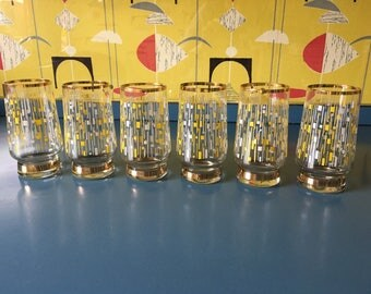 SOLD SOLD mid century vintage 50's drinking glasses