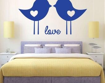 Love Birds - Vinyl Wall Art Decal Sticker