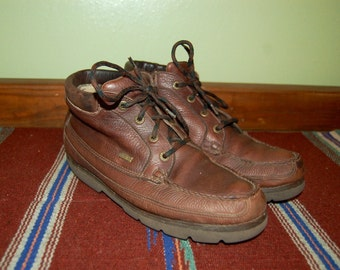 Men Size 9 Vintage Brown Rocky Hiking/Work Boots