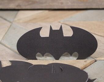 Batman Logo Midnight Black Textured Cutout 20
