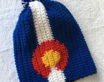Colorado Style Hat with Pom Pom.