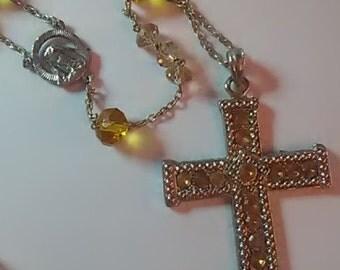 Rosary Smokey Glass