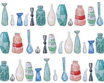 Vase watercolour print