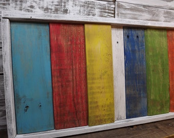 Reclaimed Pallet Wood Rustic Art Modern Rustic Shabby Chic Upcycled Modern Wall Decor