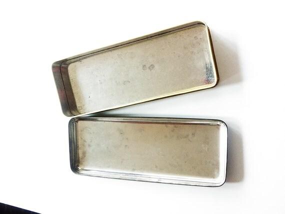 Vintage Gosling Bros Ltd Scenic Retro British Bahamas Tin / 60u0027s Tinu0027s /  Retro / Pencil Tin / Storage Box / Vintage Home Goods/ Decor